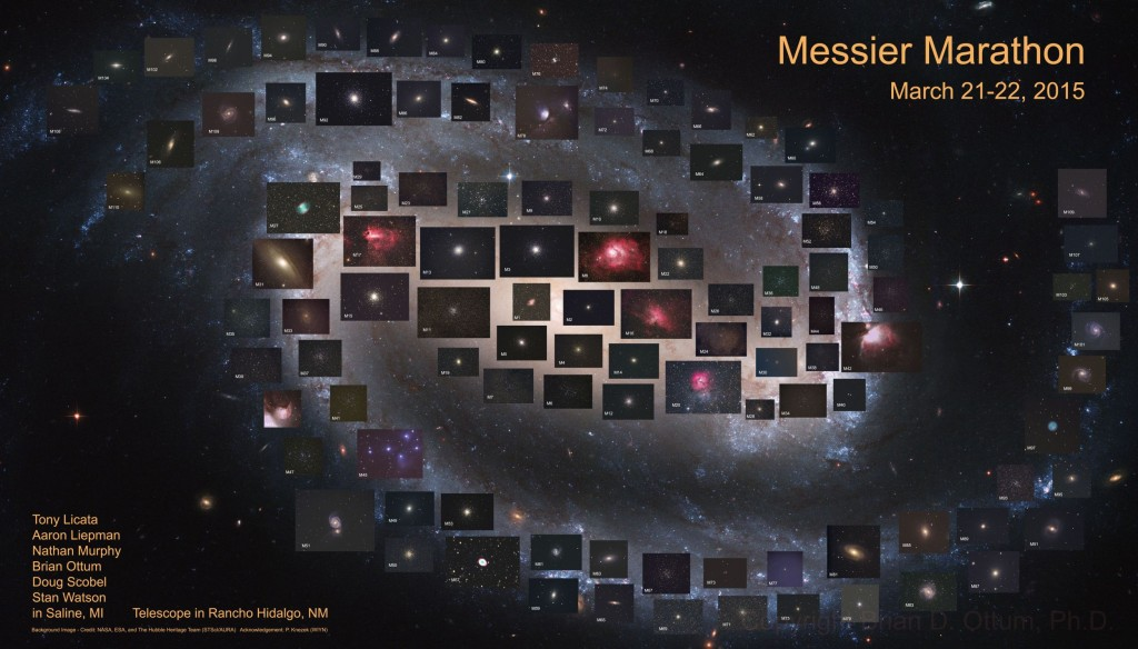 110 объектов каталога Мессье за одну ночь. Автор Brian Ottum