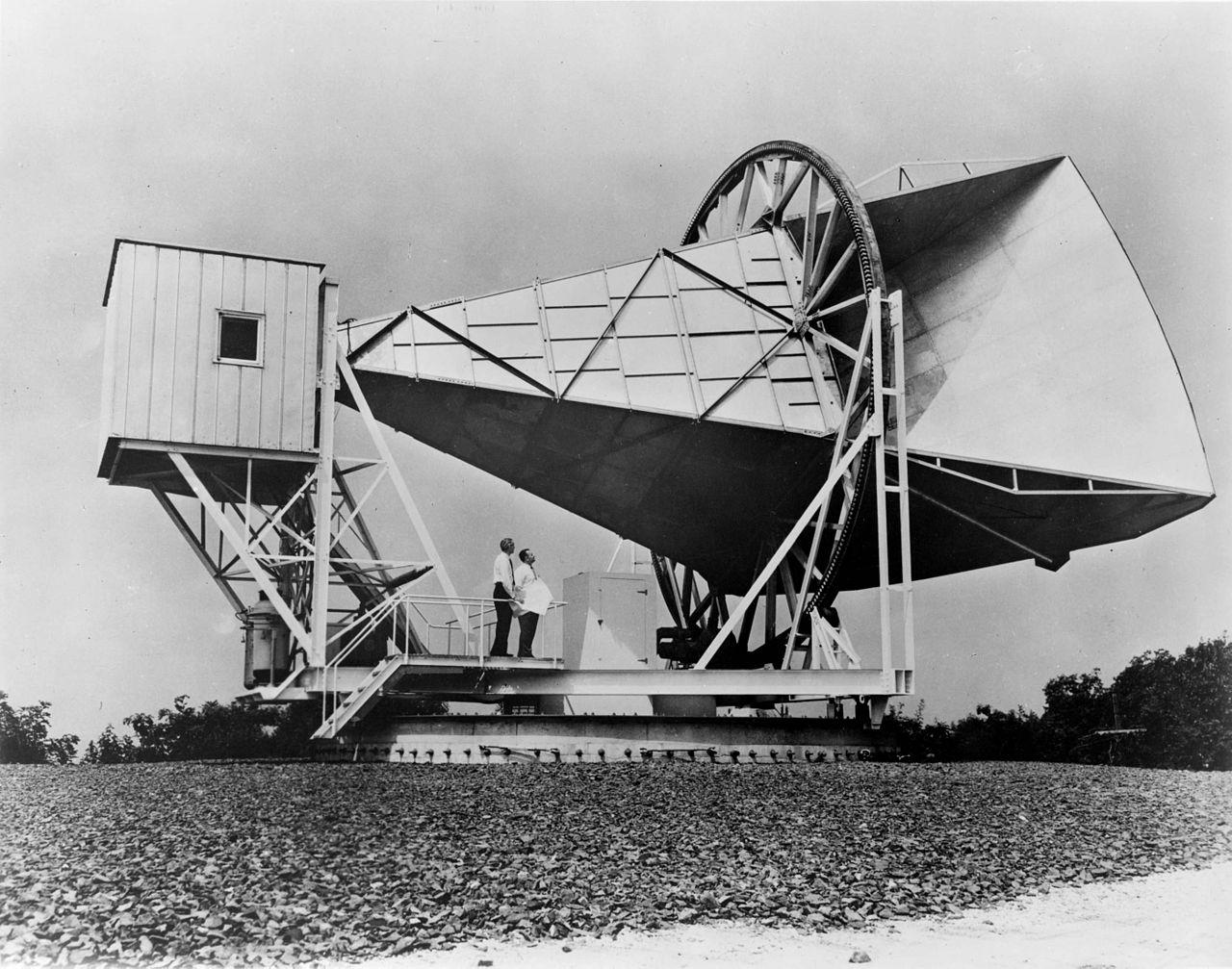 Антенна с помощью которой Пензиас и Уилсон открыли реликтовое излучение