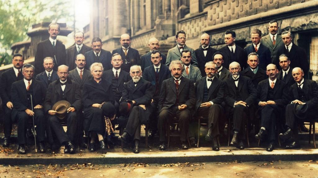 Фотография с V Сольвеевского конгресса 1927 год