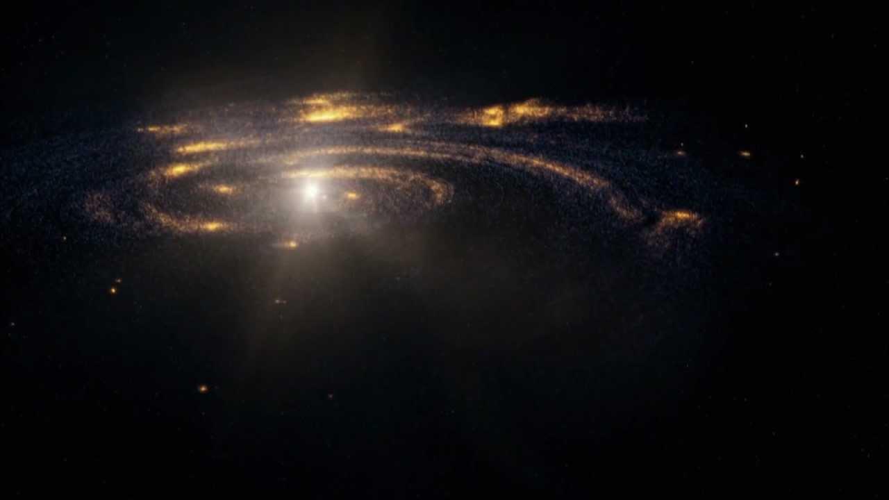 Формирование планет из туманности вокруг звезды в представлении художника