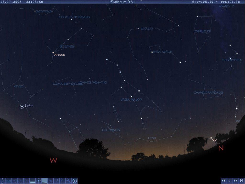 Программа Stellarium