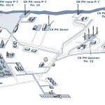 Обсуживающий персонал космодрома проживает в закрытом городе Мирный (основан в 1966 году) с населением в 32 тысячи человек. Схемы космодрома.