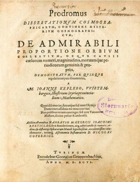 И. Кеплер. Предвестник космографических исследований, содержащий тайну мироздания, 1596г.