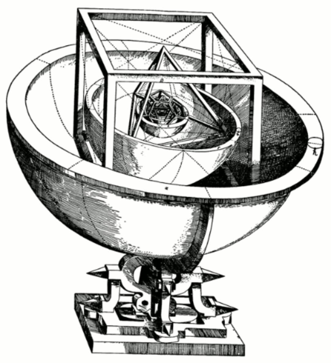 «Кубок Кеплера» - модель Солнечной системы из пяти платоновых тел