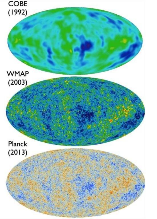 Неоднородности в реликтовом излучении электромагнитных волн по данным разных обзоров