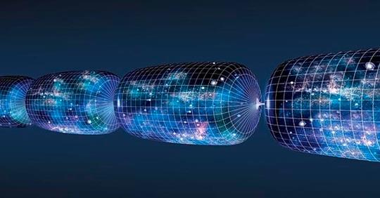 Схематичная иллюстрация возможной циклической эволюции Вселенной