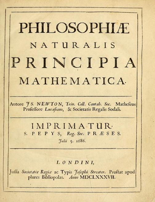 """Книга Ньютона """"Математические начала натуральной философии"""""""