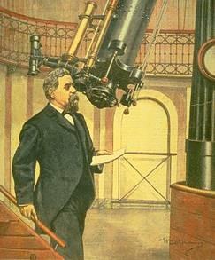 Скиапарелли в Брерской обсерватории в Милане