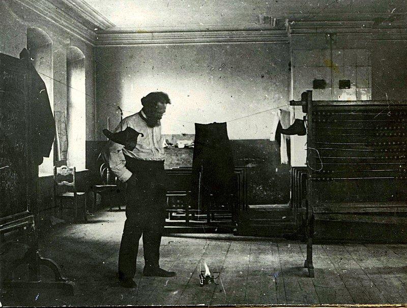 Штернберг во время одной из гравиметрических экспедиций, 1916 год