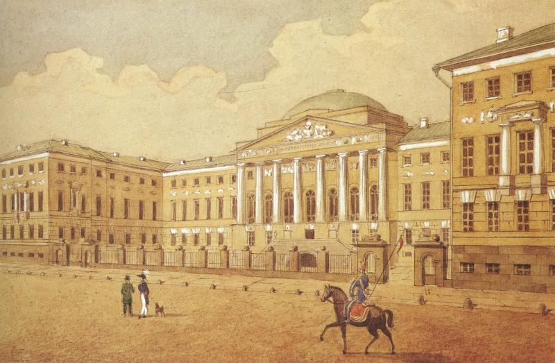 Московский университет (здесь Павел Штернберг обучался в 1883-1887 гг)