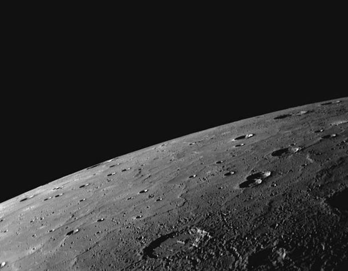 Планета Меркурий, снимок с космического аппарата MESSENGER