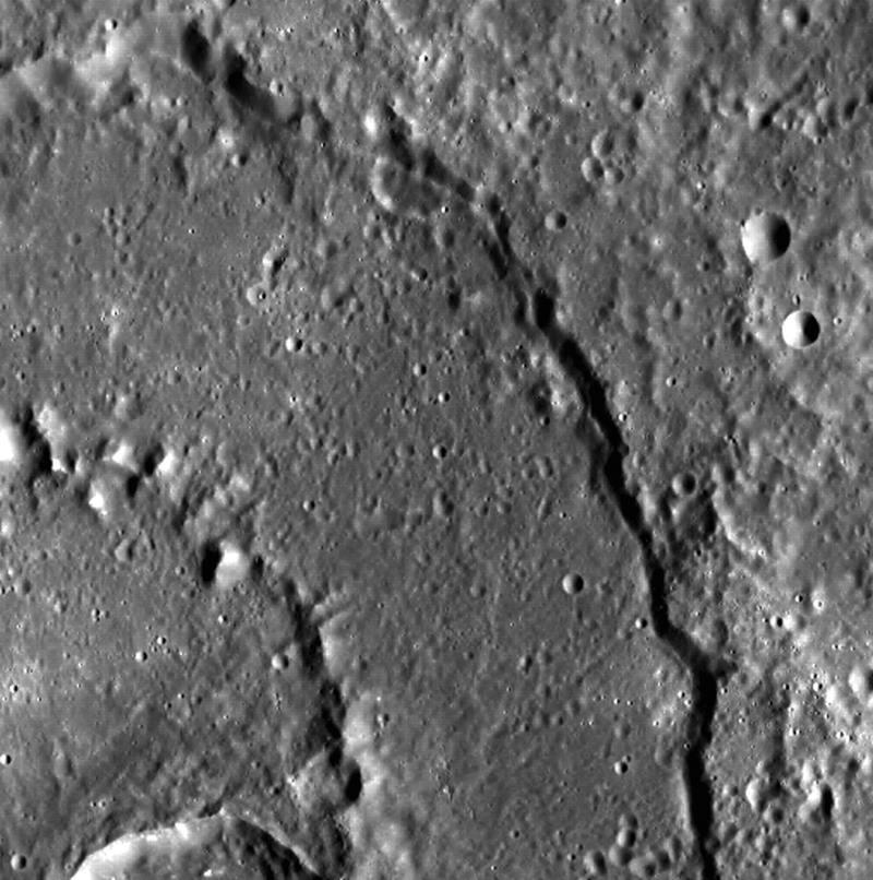 Бассейн Raditladi, один из самых молодых на Меркурии