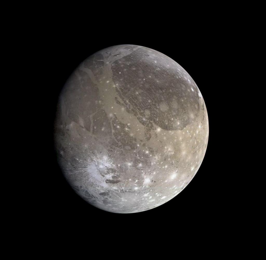 Ганимед - крупнейший спутник в Солнечной системе