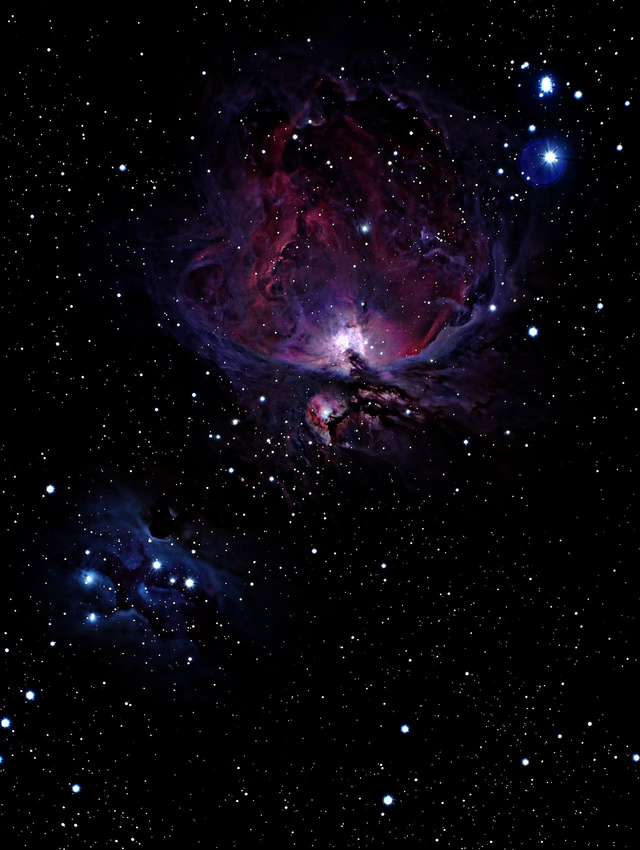 Любительский снимок туманности Ориона
