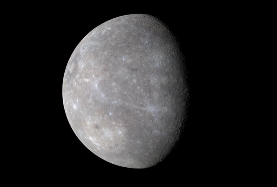 Цветное Фото Меркурия с MESSENGERA