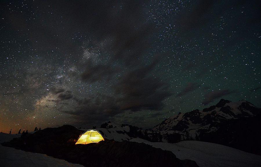 Млечный путь в горах