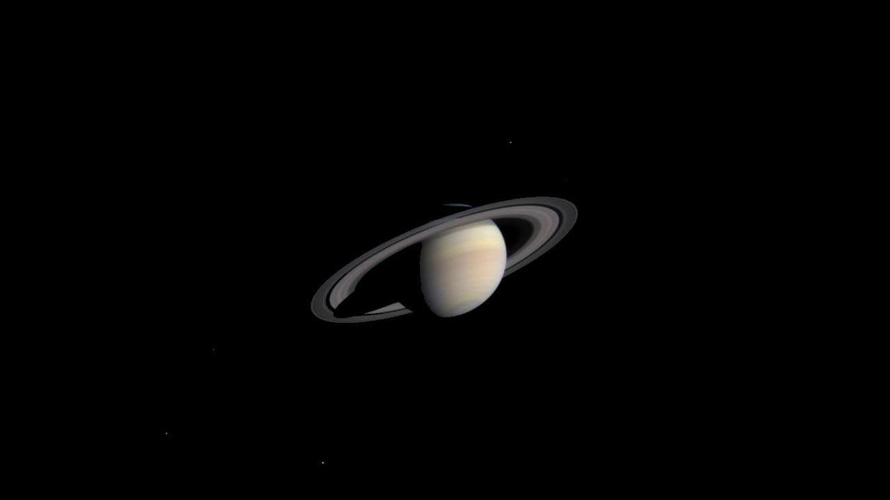 Общий вид планеты Сатурн