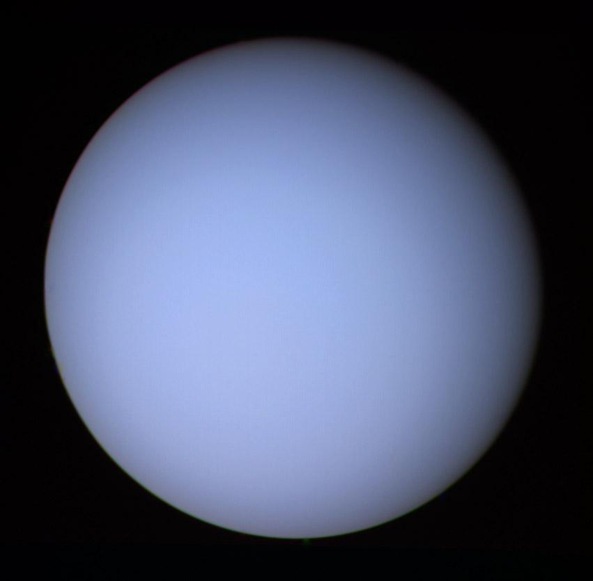 Уран, изображение получено космическим аппаратом Вояджер-2