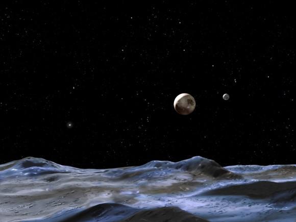 Поверхность Плутона в представлении художника
