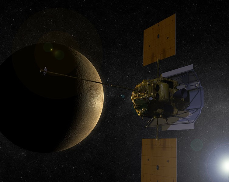 Космический аппарат MESSENGER на пути к Меркурию