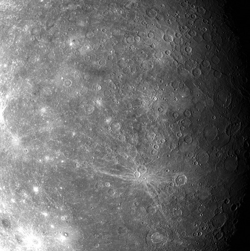 Поверхность планеты впервые  наблюдаемая с помощью MESSENGERA