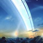 Рисунок колец, вид из атмосферы планеты