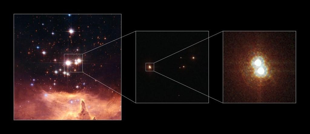 Самая большая звезда находится в  эмиссионной туманности NGC 6357