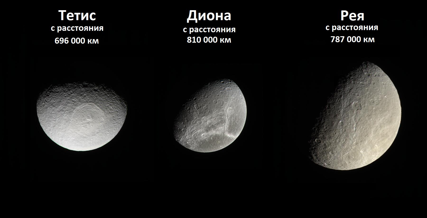 Три спутника Сатурна