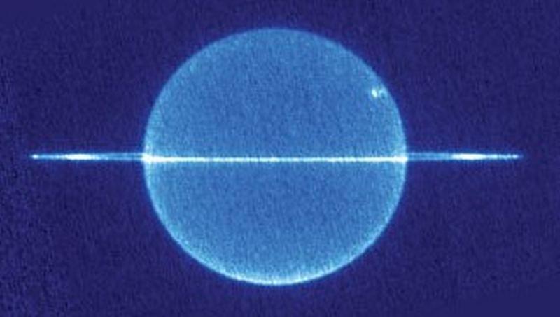Уран, инфракрасный снимок
