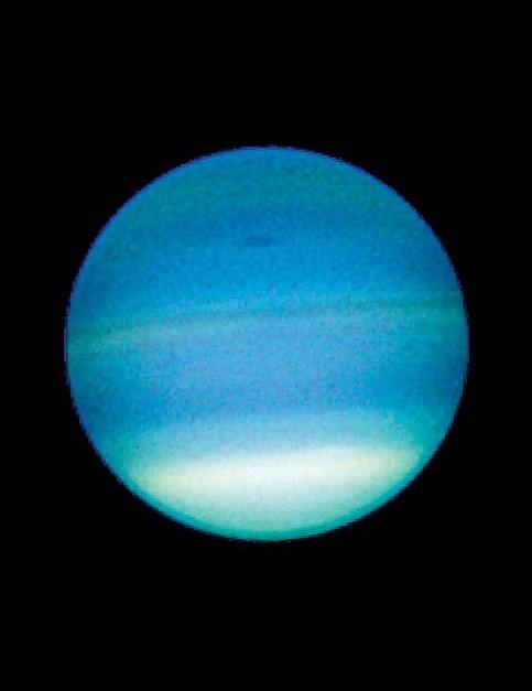 Уран вид в телескоп Хаббл