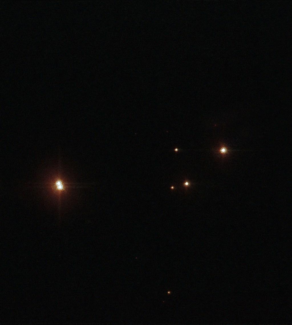 В скоплении Prismis 24 находится множество тяжелых звезд