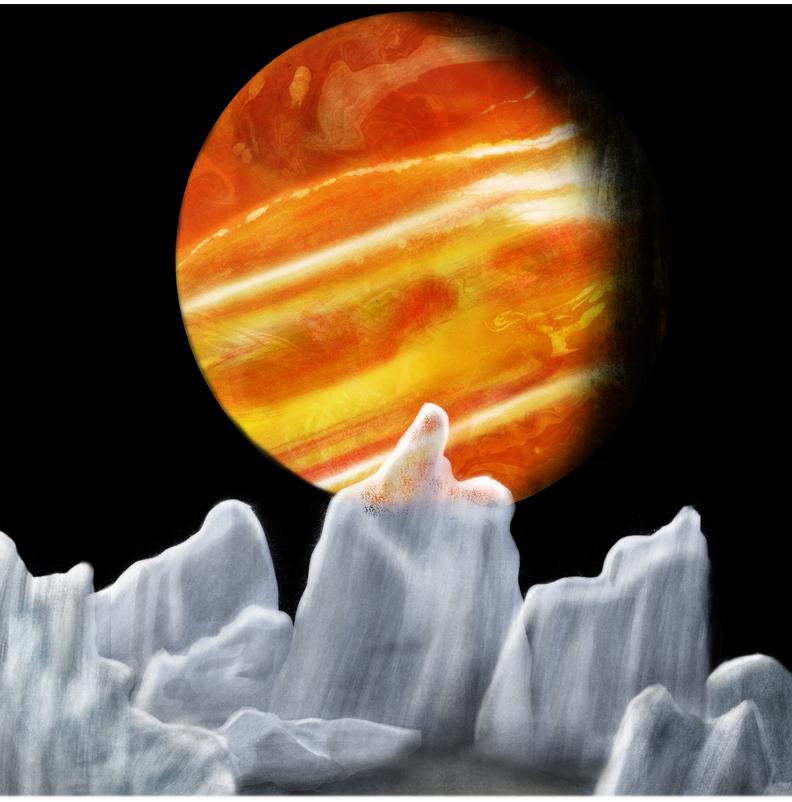 Вид на Юпитер со спутника Европа