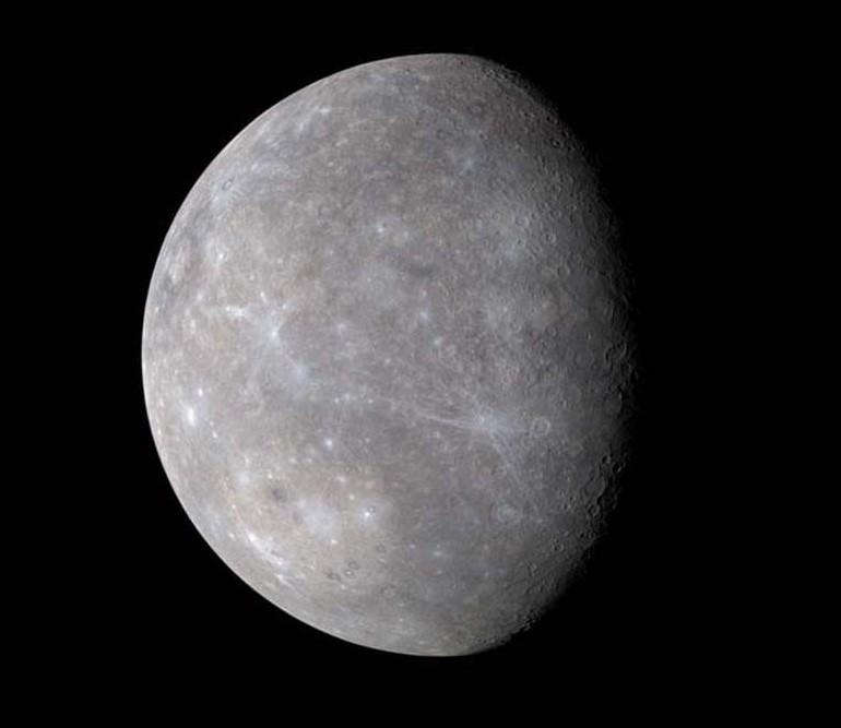 Поверхность Меркурия снятая космическим аппаратом MESSENGER