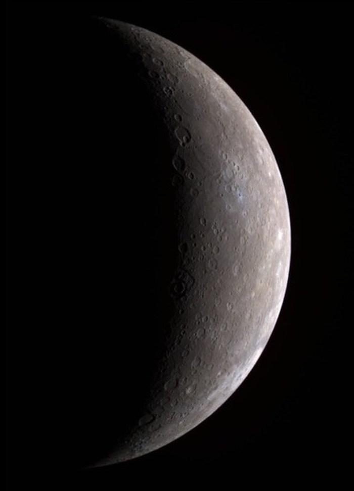 Меркурий, снимок с космического аппарата MESSENGER