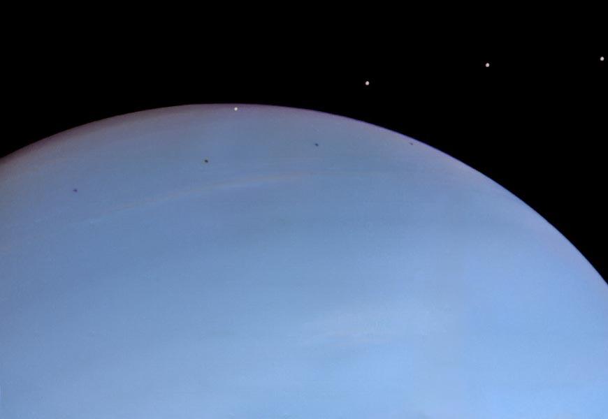 Деспина над Нептуном с интервалом 9 минут