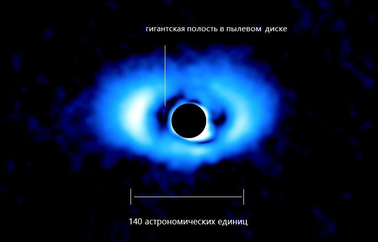 Инфракрасное изображение звезды PDS-70