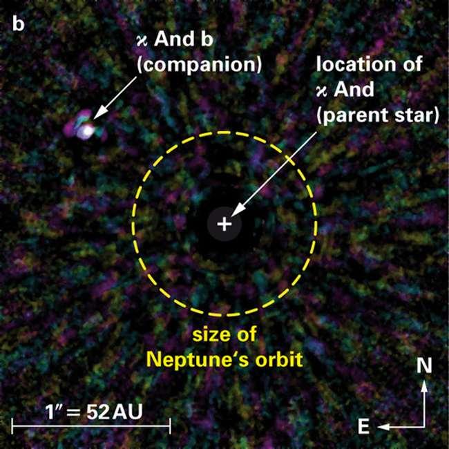 Непосредственно изображение экзопланеты