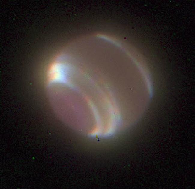 Нептун, снимок сделан с Земли с помощью адаптивной оптики
