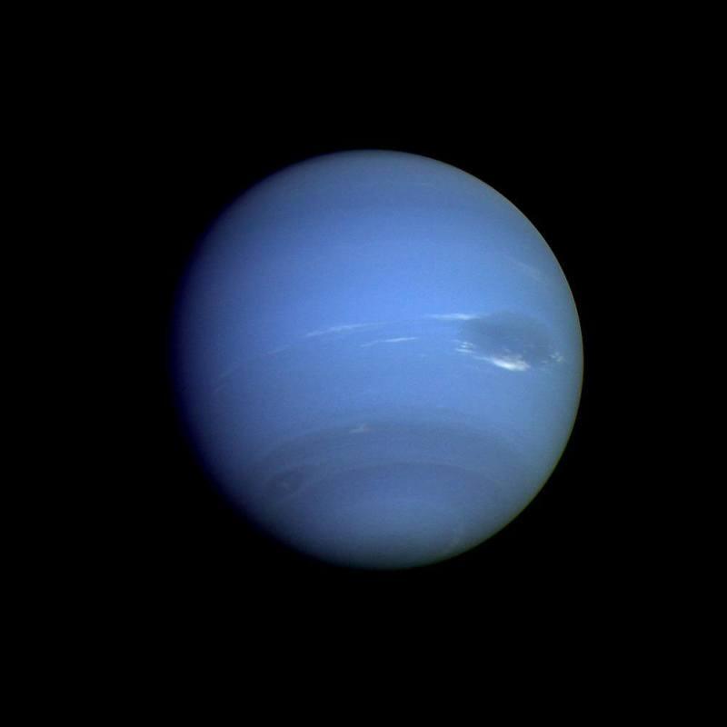 Нептун, вид с Вояджера-2