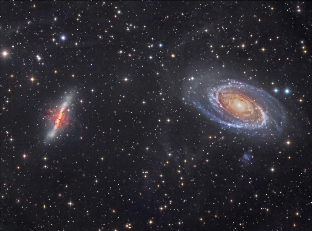 Галактики M81 и M82