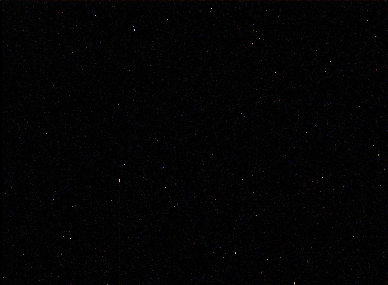 Ночное небо Марса, снимок марсохода Curiosity