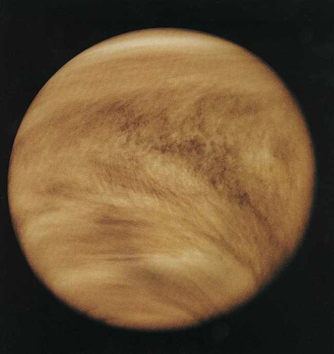 Венера, фото с борта космического разведчика