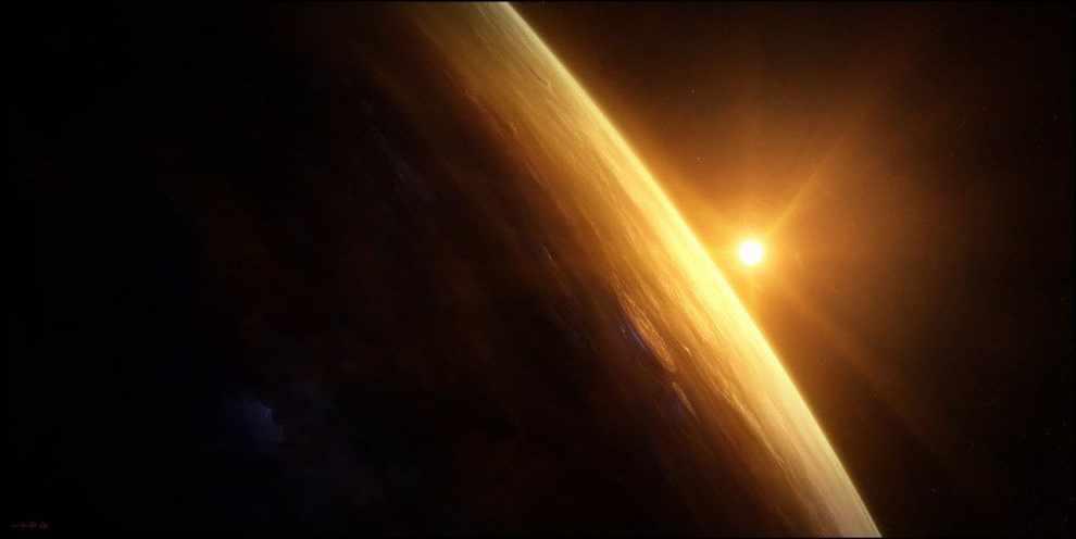 Восход над Венерой