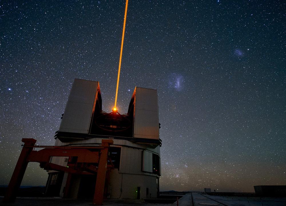 Адаптивная оптика с лазером