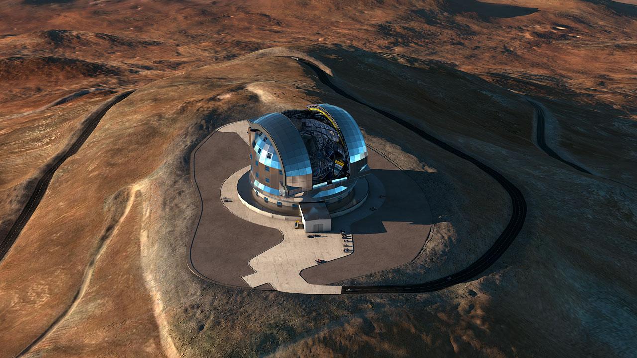 Будущий самый большой телескоп в мире E-ELT