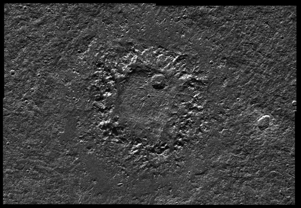 Кратер Нейт, необычная структура диаметром около 160 км