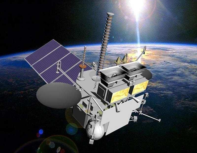 Спутник Электро-л на орбите Земли