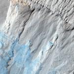 Эрозия на склоне Южной полярной шапки Марса