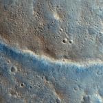 Извилистый кряж на кратере Гейла, ко востоку с Кьюриосити