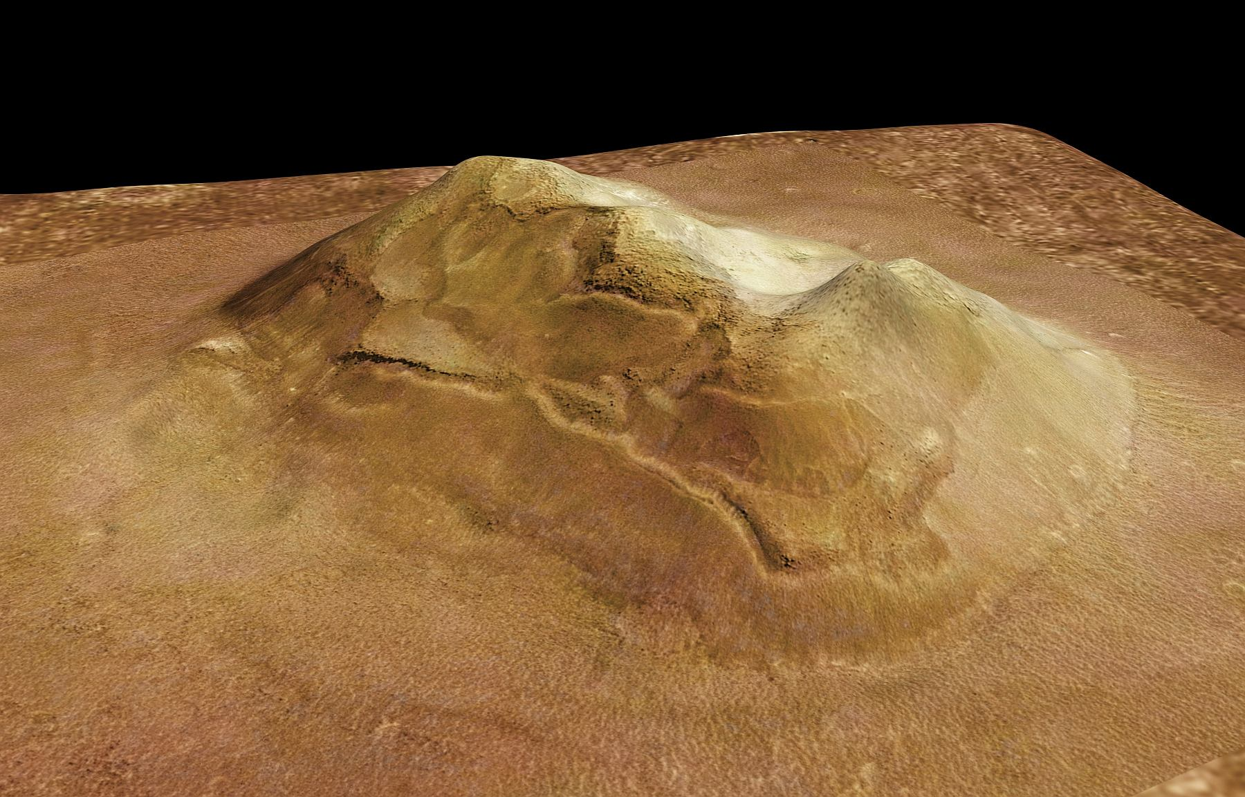 Компьютерная анимация Лица на Марсе